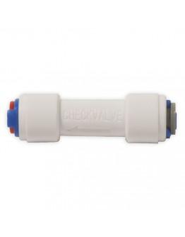 Conector Duplo Engate Rápido 1/4 com Válvula de Retenção