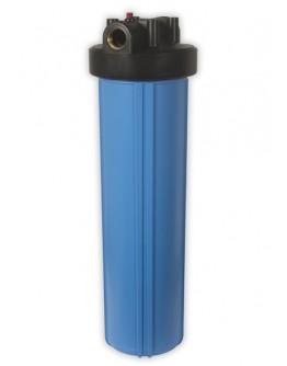 """Carcaça Big Blue 20 X 4.1/2, Rosca c/ Supor e Chave 1"""" Azul"""