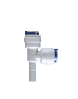 Conector em T - Duplo Engate Rápido 1/4 com Haste 1/4